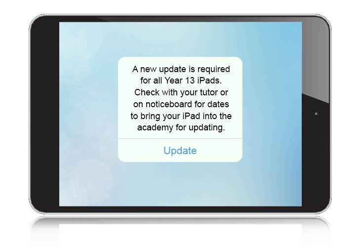 Year 13 iPad update