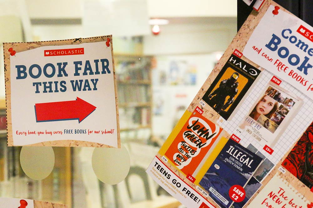 Scholastic book fair 2018 - book fair this way