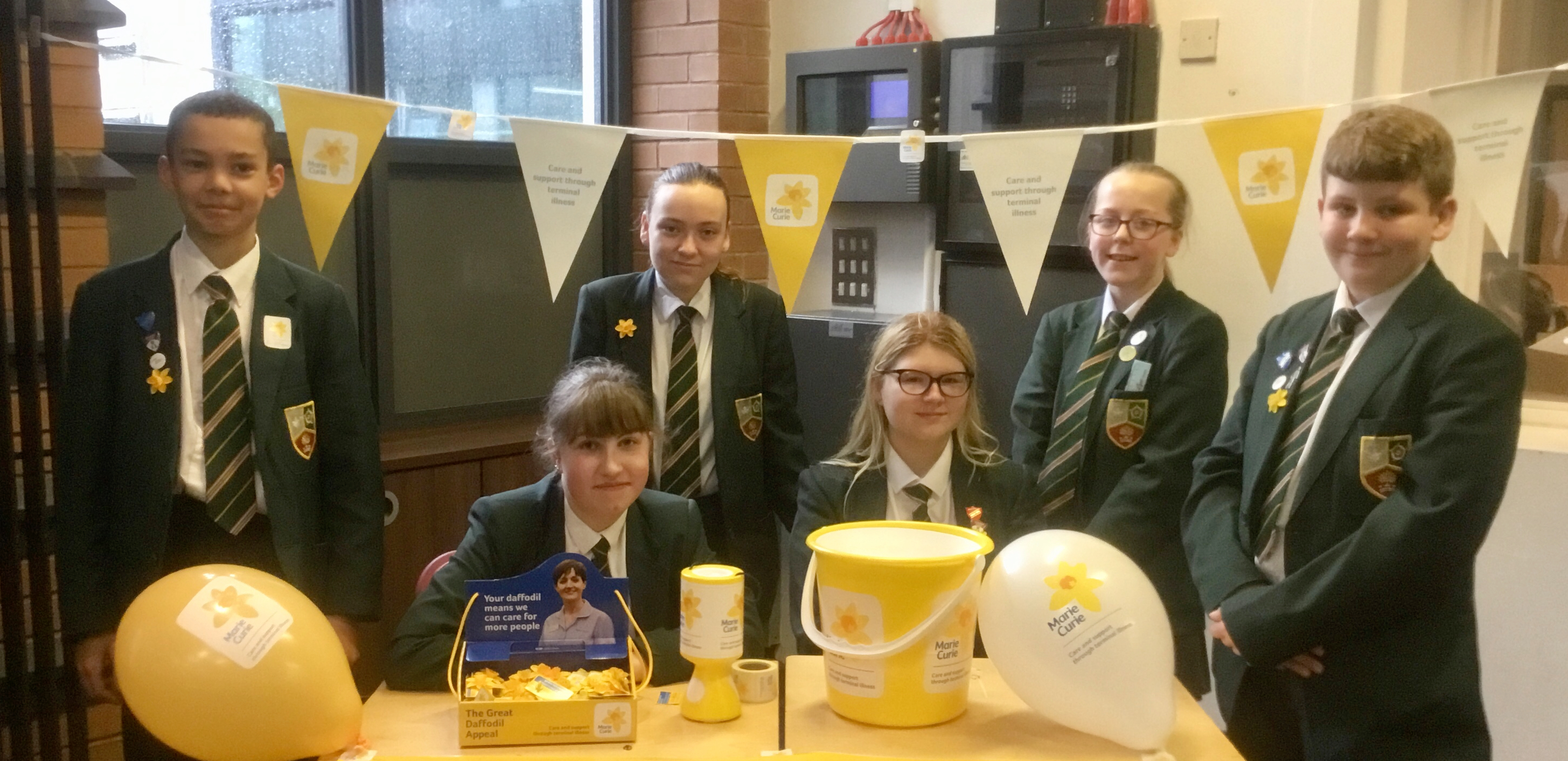 Churchill and Pankhurst students have been raising money for Marie Curie